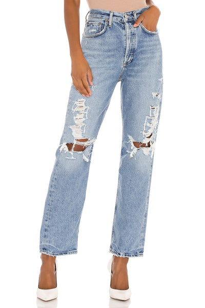 AGOLDE 90'S Jeans Style Number A069E-1141 in Major;Women's Premium Denim;Women's Distressed Denim;Women's Mid Rise Jeans;Women' (0s Fit Jeans;Winter20;women's Holiday Gift Idea;Women's AGOLDE Jeans;Women's Online Clothing and Accessories;Shopbfree;Bfree_boutique;bfreebabe;MyBfreeStyle