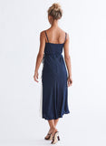 Ali & Jay Cali Romanza Midi Dress Navy and Ivory Colorblock Back
