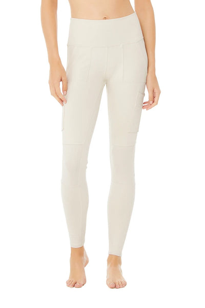 Alo Yoga High-Waist Cargo Legging Style W5874R in Bone