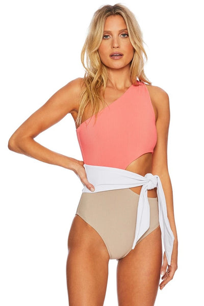 BeachRiot Carlie one piece swimsuit Style Number BR04040S1 COCO in Coral Colorblock;Women's 1PC Swimsuit;Women's One Piece Swimsuit;Women's Swimsuit;Women's Resortwear;Women's Online Clothing and Accessories Boutique;Shopbfree;shopbfree.com;Bfree Warwick;Bfree Wyckoff;Bfree_boutique;bfreebabe;MyBfreeStyle