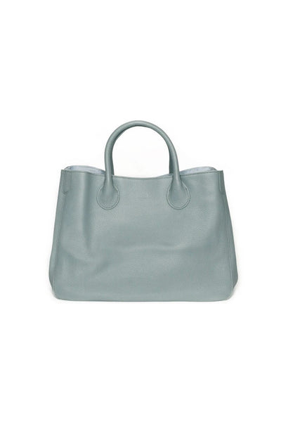 Becks Bags Classic Medium Tote in Carlyle Blue Grey on shopbfree.com; Women's tote bag; Women's online fashion and accessories boutique; BfreBabe; MyBfreeStyle; Bfree_Boutique