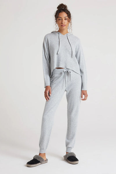Bella Dahl Cashmere Jogger Style W3260-C55-300 in Heather Grey;Women's Lounge wear;Women's Cashmere Lounge;Women's holiday gift idea;Women's Cashmere;Women's Winter Loungewear;Women's online clothing and accessories boutique;Shopbfree;Bfree_boutique;bfreebabe;MyBfreeStyle;Women's Cashmere Jogger