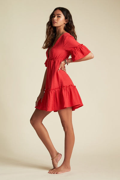 Billabong x Sincerely Jules JD31TBLO Lovers Wish Dress Rio REd on Shopbfree.com Bfreebabe MyBfreeStyle