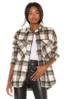 Blank NYC Outsider Jacket Style Number 01LS5629-OVP;Women's Plaid Shirt Jacket;Women's Spring Jacket;Women's Spring Plaid;Women's Shacket;Women's Jacket;Women's Online Clothing and Accessories Boutique;Shopbfree;Bfree_boutique;bfreebabe;MyBfreeStyle