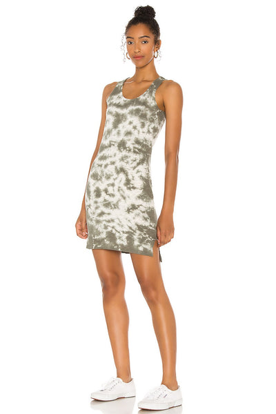 Bobi Clothing Tie Dye Tank Dress in Army Style Number 53A-88100 AR1 on shopbfree.com
