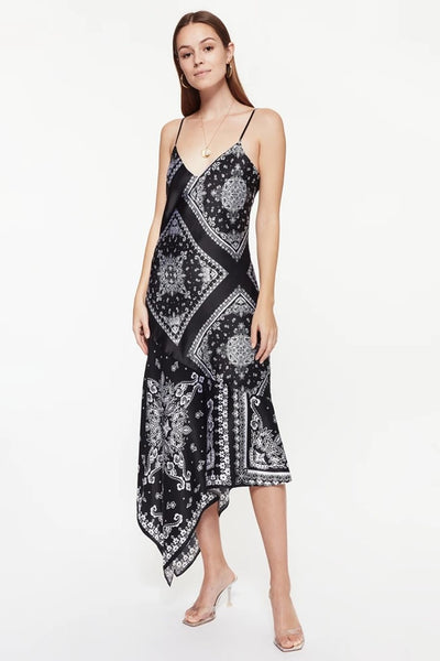 Cami NYC Becky Dress in Black Bandana