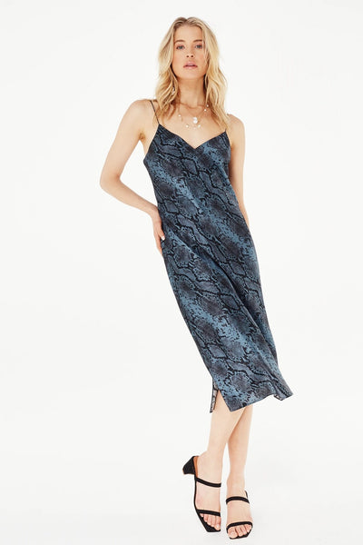 Cami NYC RAve Slip Dress in Blue Snake on Shopbfree.com