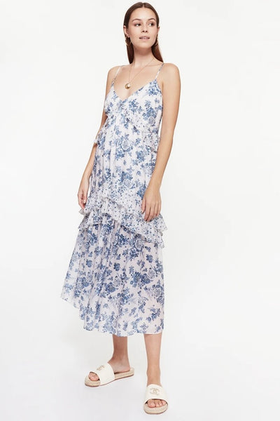 Cami NYC Victory Cotton Dress in Ceramic Denim Floral