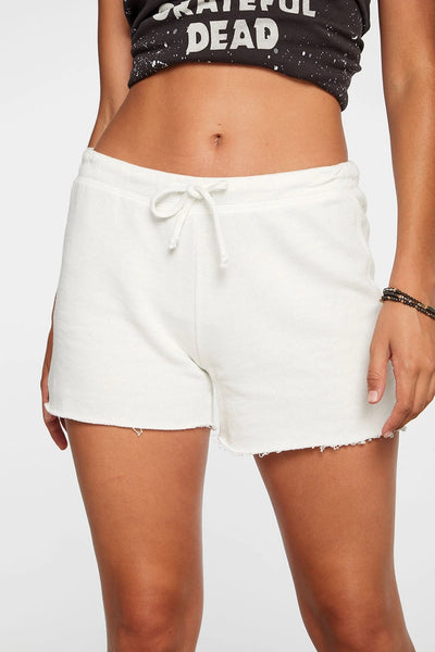 Chaser Clothing Linen French Terry Cut off Lounge Shorts in Jasmine Style Number CW8143-JSMN on shopbfree.com