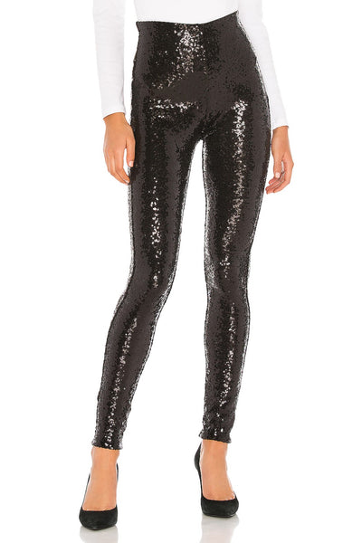Commando Sequin Leggings Style Number SLG38 in Black;Commando Leggings;Women's Holiday Style;Women's Holiday Gift Idea;Women's Party Style;Women's Online Clothing and Accessories Boutique;Shopbfree;Bfree_Boutique;MyBfreeStyle