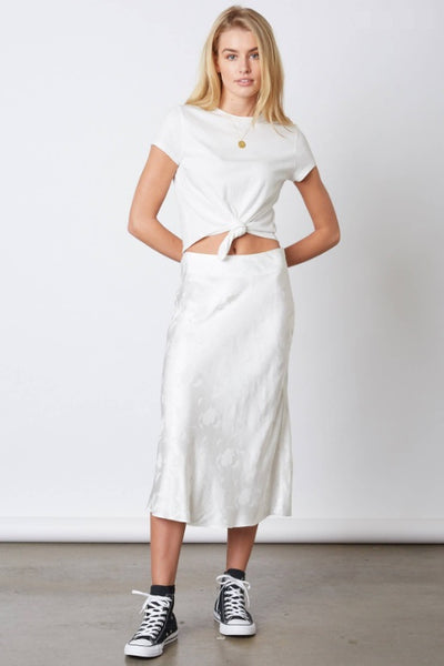 Ellie Satin Midi Skirt