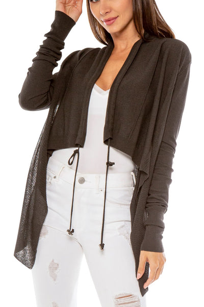 ELI SIDE SHEER OPEN KNIT CARDIGAN