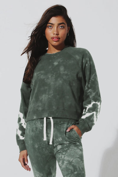 Electric and Rose Ronan Pullover Style Number LFCV08-CHE CAMC in Camo Cloud;Women's Tie Dye Sweat Shirt;Women's SPring Athleisure Wear;Women's Athletic wear;Women's Online Clothing and Accessories Boutique;Shopbfree;shopbfree.com;Bfree Warwick;Bfree Wyckoff;Bfree_boutique;bfreebabe;MyBfreeStyle