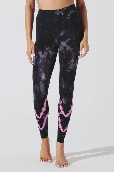 Electric & Rose Sunset Legging Style ERWBT01 Chevron Wash in Peony Onyx on shopbfree.com bfreebabe mybfreestyle