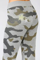 Fate by LFD Camo Knit Jogger Pants Style FW2651 in Grey Olive on shopbfree.com; women's jogger pant; women's sweat pants; camo joffers; Fall Style; Athlesiure wear; Women's online fashion boutique; BfreeBabe; MyBfreeStyle; Bfree_Boutique; Women's camo sweatpants