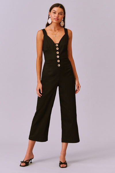 Finders Keepers Valentina Pantsuit Style 202001002 in Black on shopbfree.com