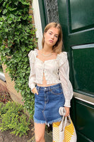 Free People Bailey Denim Mini Skirt Style Number OB1006434 in Mountain Blue on shopbfree.com, Bfree_boutique, Free People, MyBfreeStyle, BfreeBabe, Denim Skirt, Women's ready to wear