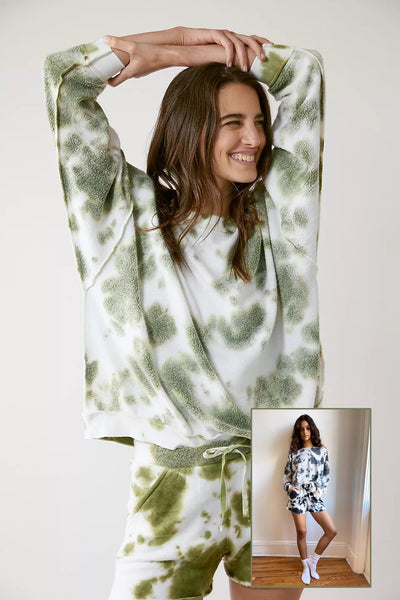 Free People Clothing Kelly Washed Set Style Number RAG2420 in Army Combo and Black Combo;free people lounge wear;free people clothing Athleisure;Spring Loungewear;Women's Online Clothing and Accessories Boutique;shopbfree;Bfree_Boutique;BfreeBabe;MyBfreeStyle