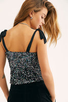 Free People Hey Girl Sequin Cami Style Number OB1231639 Night on Shopbfree.com; Women's Cami Top;  Sequin Cami; Women's Online Clothing and Accessories Boutique; Bfree_Boutique; MyBfreeStyle; BfreeBabe