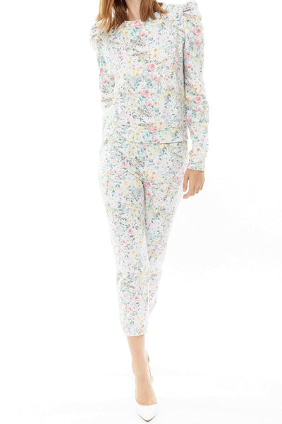 Generation Love Sienna Sweatpant Style SP20505 in Grey Floral on shopbfree.com