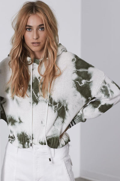 John + Jenn Rocky Hoodie S237HD75 in Fern Tie Dye, women's Hoodie, Women's Tie Dye Fall Hoodie, Wome's fashion, Women's Fall Style, BfreeBabe, MyBfreeStyle, Bfree_Boutique