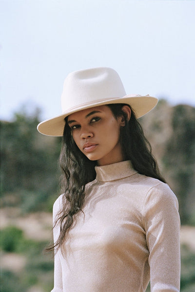 Lack of Color Hats Ivory Zulu In Ivory;Women's hat;Women's Rancher Hat;Women's Fidora Hat;Women's western Style hat;Women's Ivory fedora Hat;Women's Boho Chic Hat;Lack of Color Hat;Women's Online Clothing and Accessories Boutique;shopbfree;Bfree_Boutique;BfreeBabe;MyBfreeStyle