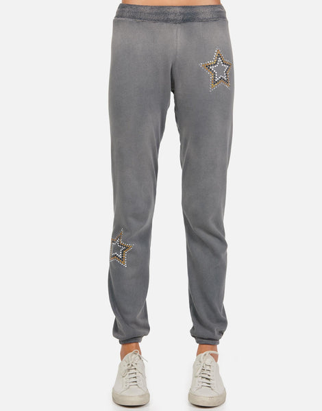 Lauren Moshi Gia Outline Stud Star Sweat Pant