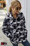 Lilly Clothing Lapel Collar Sweat Shirt Style Number 207005;Women's 1/4 Zip Top;Women's 1/4 Zip Sweater;Women's 1/4 Zip Sweatshirt;Women's Cozy Holiday Gift Idea;Women's Sweater;Camo Sweatshirt;Women's Online Clothing and Accessories Boutique;Shopbfree;Bfree_Boutique;MyBfreeStyle;BfreeBabe