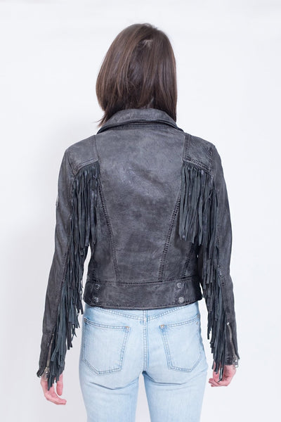 Mauritius Zoe Leather Fringe Jacket on shopbfree.com