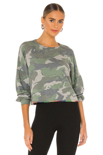 Michael Lauren Fairfax Pullover Style Number ML-5475-HAC-3E105 on shopbfree.com; Women's Sweater; Women's Pullover; Women's Camo Top; Women's Online Clothing and Accessories Boutique; BfreeBabe; MyBfreeStyle; Bfree_Boutique