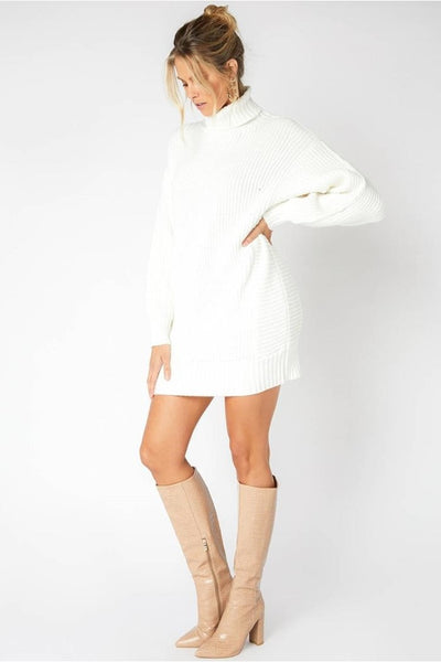 Minkpink Echoes Knit Dress Style Number IM20F2850 On Shopbfree.com;women's Sweater Dress; Holiday Sweater Dress;Winter White Dress;Turtleneck Sweater Dress;Women's Online Clothing and Accessories Boutique;Shopbfree;Bfree_Boutique;MyBfreeStyle;BfreeBabe;Minkpink Sweater Dress;Fall Knit Dress