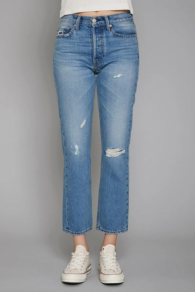 No End Denim Claude Crop High Rise Straight Retro Wash Style FR1230CRTO on Shopbfree.com Bfreebabe MyBfreeStyle