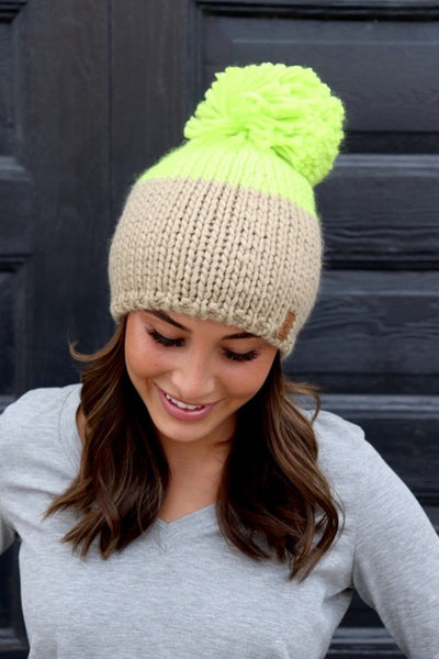 Women's Pom Hat; Women's Winter Hat; Color Block Pom Hat; Panache Color Block Pom Hat; Shopbfree.com; Women's Online Clothing and Accessories Boutique; Bfree_Boutique; BfreeBabe; MyBfreeStyle