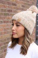 Panache Speckled Pom Hat on Shopbfree.com; Women's Pom Hat; Women's Winter Hat; Women's Online Clothing and Accessories Boutique; Bfree_Boutique; MyBfreeStyle; BfreeBabe