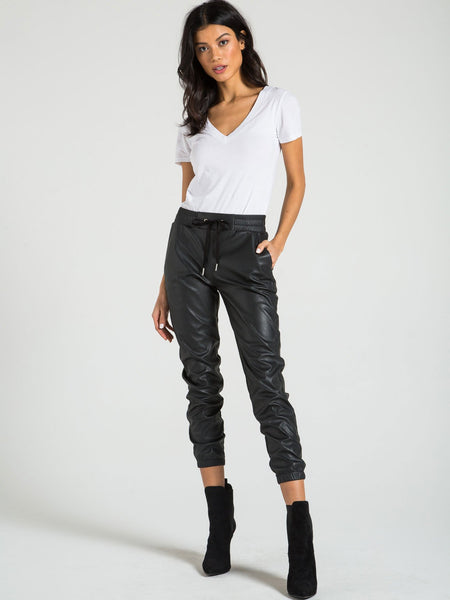 SCARLETT - LEATHER JOGGER