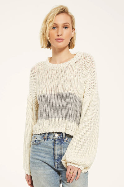 Rag Poets Lafayette Sweater in Ivory Style Number RW203202 IRY on shopbfree.com