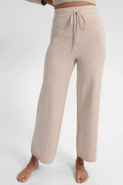 Sanctuary Clothing Essential Knitwear Pant in color Latte Heather Style Number CP0767SCN-LTHT;Women's Spring Loungewear Pant;Women's Spring Sweatpant;Women's Loungewear;Women's Online Clothing and Accessories Boutique;Shopbfree;Bfree_boutique;bfreebabe;MyBfreeStyle
