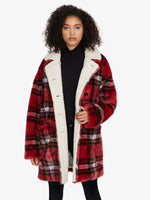 Sanctuary Clothing Sierra Coat Party Plaid Sherpa