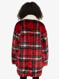 Sierra Coat Party Plaid and Sherpa