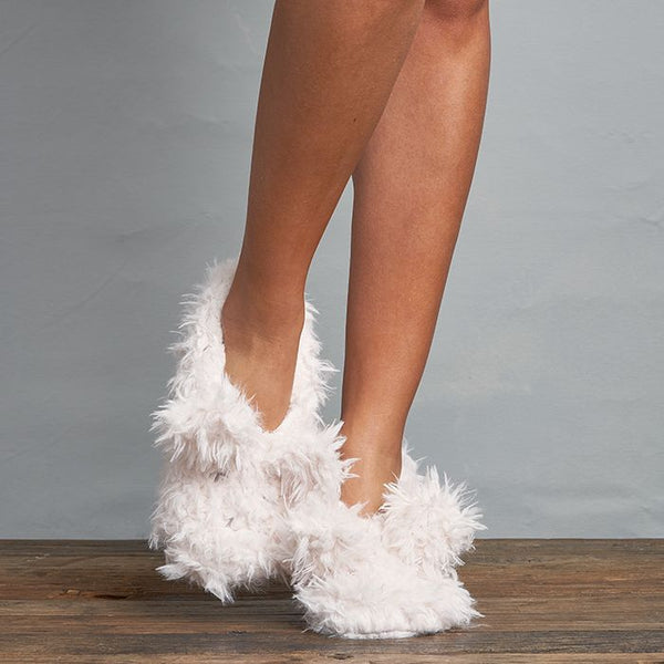 Lemon Shaggy Bunny Slippers On Shopbfree.com Mybfreestyle Bfreebabe
