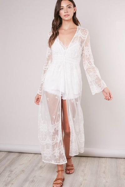 Sheer Kaftan Swim Cover-Up
