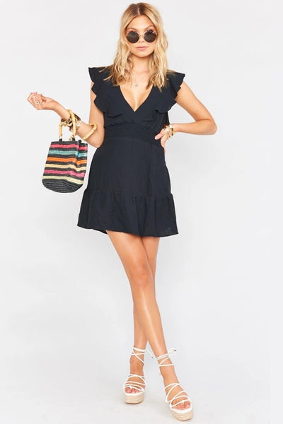 Show me Your MUMU Adella Dress in Black Style Number MM0-4302 BL87 on shopbfree.com
