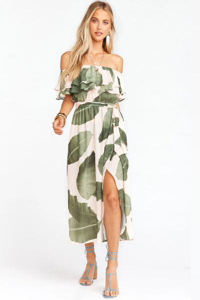 Show Me Your Mumu Rosie Dress Style Number MS0-1985 LP46 in Queen Palms on shopbfree.com