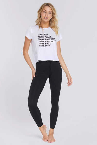 Spiritual Gangster More Love Active Crop Tee SU93618002 White