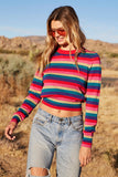 Nikki Stripe Crop Sweater Multi