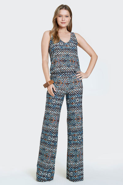 Viereck Clothing Epicure Jumpsuit in Bongino;Women's Spring Summer Jumpsuit;printed Jumpsuit;Viereck Jumpsuit;Deborah Viereck Jumpsuit;Women's Online Clothing and Accessories Boutique;Shopbfree;shopbfree.com;Bfree Warwick;Bfree Wyckoff;Bfree_boutique;bfreebabe;MyBfreeStyle;Spring Jumpsuit;Women's Jumpsuit