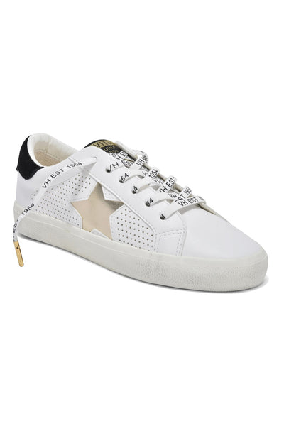 Vintage Havana Footwear Gadol Dotted Sneaker in White and Gold on Shopbfree.com
