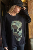 Wooden Ships Camo Skull Crew in Black and Fatigue Green Style Number K45Y2W048 on shopbfree.com; Women's Sweater;Women's Fashion; Wooden Ships;BfreeBabe; MyBfreeStyle; Bfree_Boutique;Women's Fall Fashion