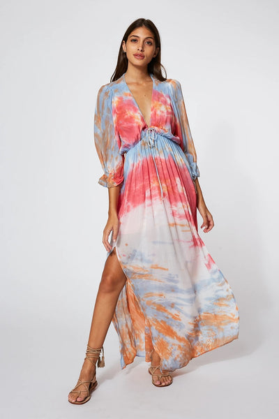 YFB Clothing Meadow Dress Style Number 3742CH in Blue Bahama Wash on shopbfree.com