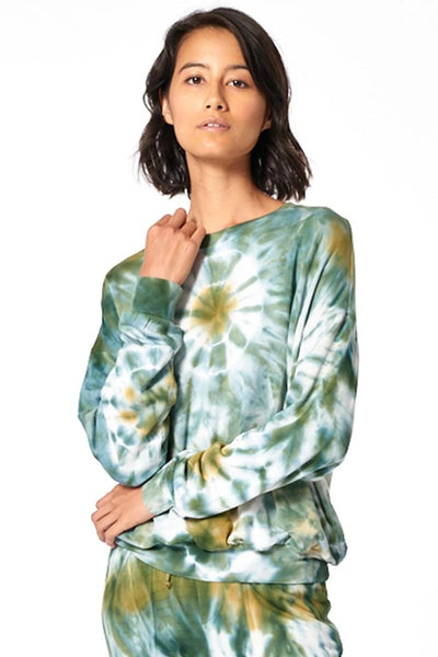 Young Fabulous and Broke Clothing Coraline Sweat Shirt in Color WInter Leaf Venus Wash Style Number 1402MDF WLEAF